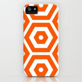 Pop Art Colour Based Hexagon Pattern iPhone Case