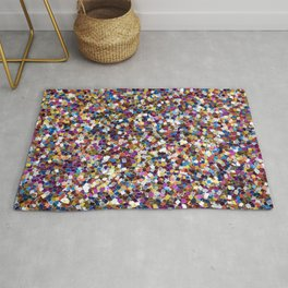 Colorful Rainbow Sequins Rug