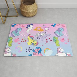 g1 my little pony collage Rug