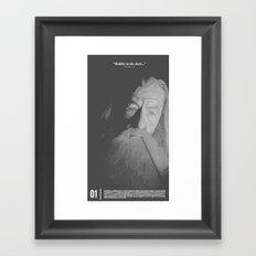 Riddles in the Dark... Framed Art Print