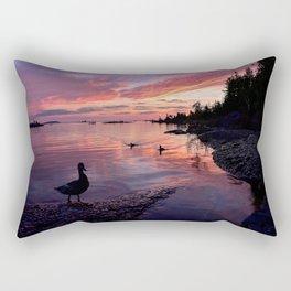 Ducks at Sunrise Rectangular Pillow