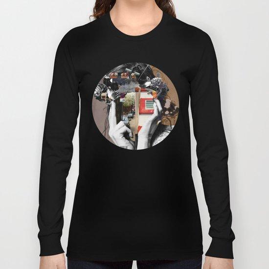 Crazy Woman - LisaLaraMix · Crop Circle Long Sleeve T-shirt