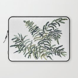 Woodland Fern Botanical Watercolor Illustration Painting Laptop Sleeve