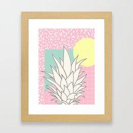 Memphis Pineapple Top Framed Art Print