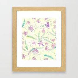 water colour pink palm Framed Art Print