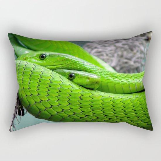 Green Mamba Rectangular Pillow