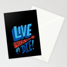 LIVE FREEze tag OR DIE! Stationery Cards