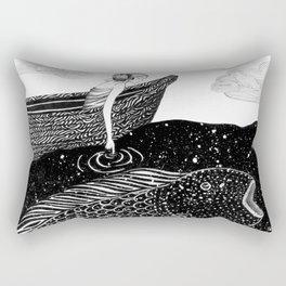 The Shimmering Sea Lights Rectangular Pillow