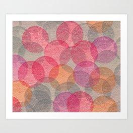 Cosy Circles 2 Art Print