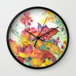 Autumn berries Wall Clock