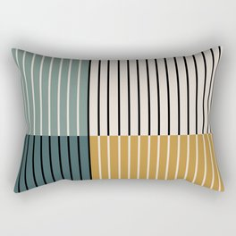Color Block Line Abstract VIII Rectangular Pillow