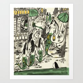 Sirens at the Cafe de Flore Art Print