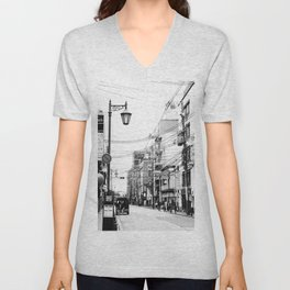 The Streets of Gion, Kyoto Unisex V-Neck