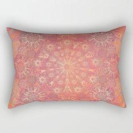 """Coral & Rosewood Mandala (pattern)"" Rectangular Pillow"