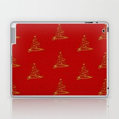 Gold Christmas Trees Laptop & iPad Skin