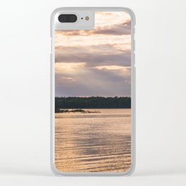Door County Sunset Clear iPhone Case