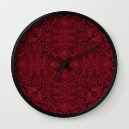 black on red Wall Clock