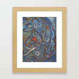 Giraffe VS Elephant (resized) Framed Art Print