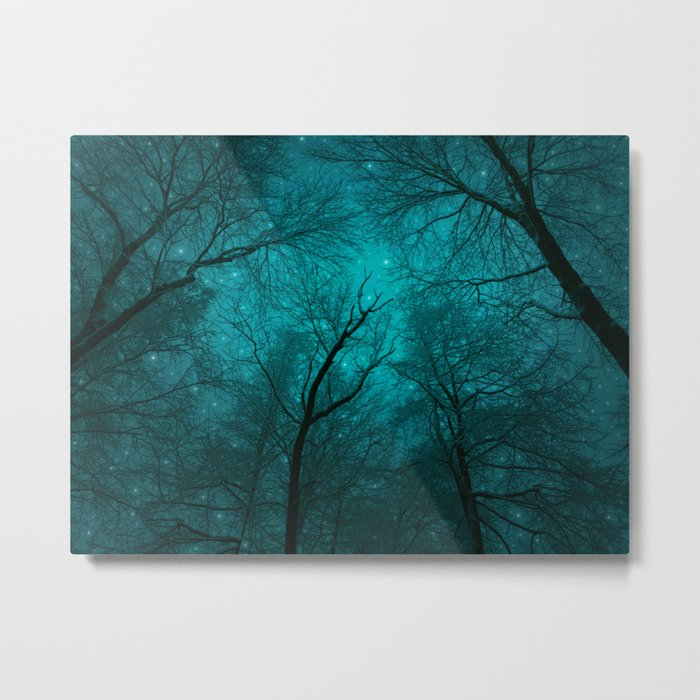 Simply Stare Upward (Dark Winter Sky) Metal Print
