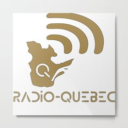 Radio-Québec - I Metal Print