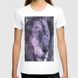 galaxy lion leo T-shirt