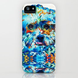 Colorful Dog Art - Lhasa Love - By Sharon Cummings iPhone Case