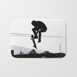 Flying High Skateboarder Bath Mat