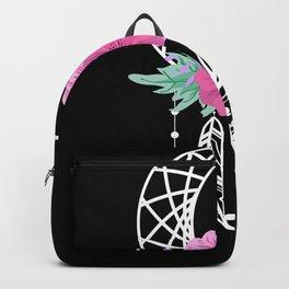 Dream Catcher Moon Flowers Backpack