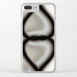 Linked Hearts Clear iPhone Case