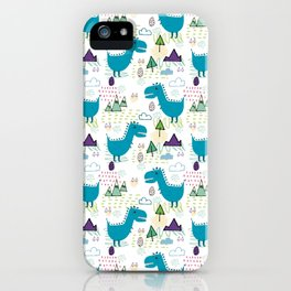 Cool T-rex Fun party teal #homedecor iPhone Case