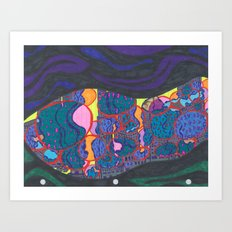 L.A., at night, from a distance Art Print