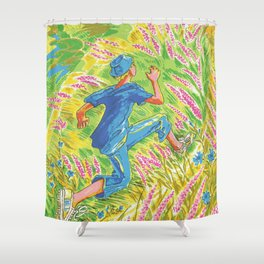 FELT TIP PEN Pop Art Shower Curtain