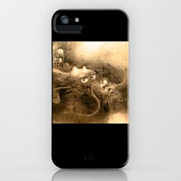 Dragon and wave,Tiger among bamboo by Kano Tannyu (1602-1674) iPhone Case
