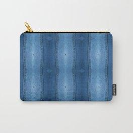 Denim Diamond Waves vertical patten Carry-All Pouch