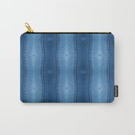 Denim Diamond Waves vertical patten Carry-All Pouch