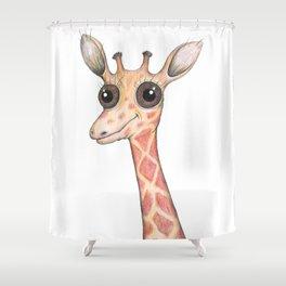 Cute comic giraffe Shower Curtain