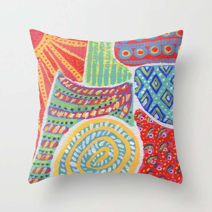 Doodle Collection 2 Throw Pillow