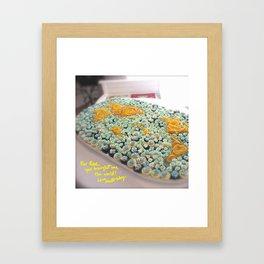 Rose World Cake Framed Art Print