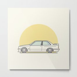 BMW E30 M3 Vector Illustration Metal Print