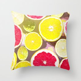 Color of Fruits Throw Pillow