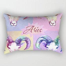 Aries. Pop art portrait. Rectangular Pillow