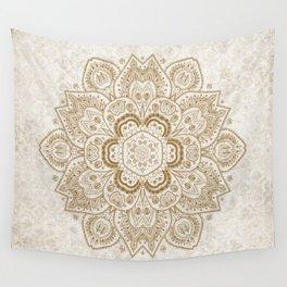 Mandala Temptation in Cream Wall Tapestry