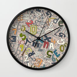 A1B2C3 clay Wall Clock