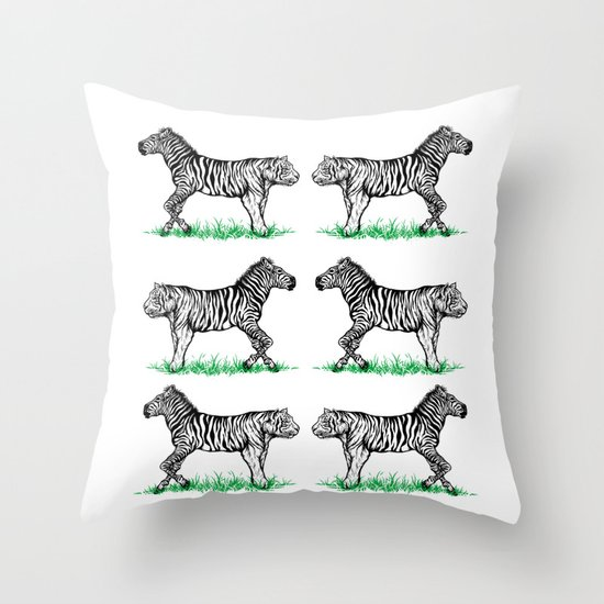 twins but different Throw Pillow