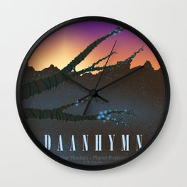 Planet Exploration: Daanhymn Wall Clock