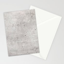 Smooth Concrete Small Rock Holes Light Brush Pattern Gray Textured Pattern Stationery Cards