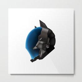Dark Knight's Helm Metal Print