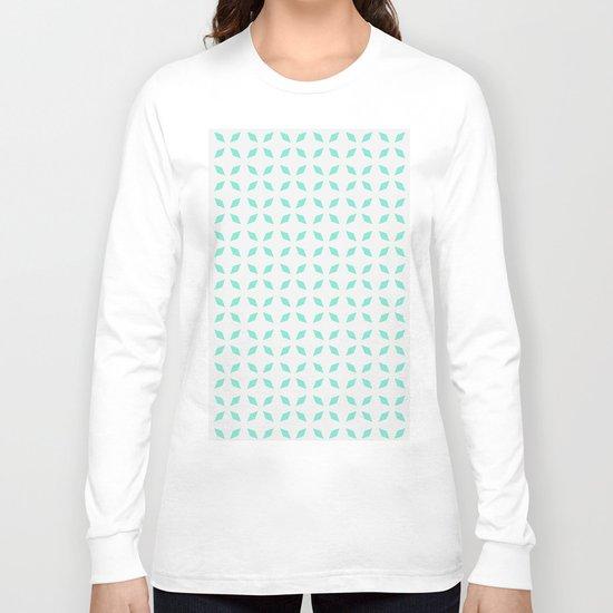 Mint green diamond pattern Long Sleeve T-shirt