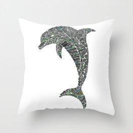 Jumping Dolphin Throw Pillow