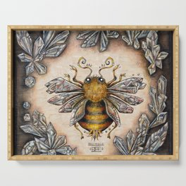 Crystal bumblebee Serving Tray